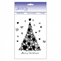 John Next Door Embossing Folder - Tree of Hearts
