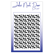 John Next Door Mask Stencil - Holly Quilt