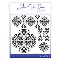 John Next Door Mask Stencil Set - Damask Dreams JNDM0020