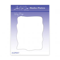 John Next Door Media Plate - Wavy Plaque