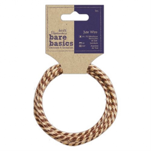 Papermania Jute Wire (3m) - Bare Basics - Two Tone