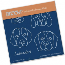 Kennel Club - Labradors Groovi Baby Plate A6