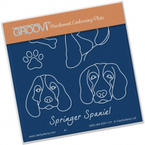 Kennel Club - Springer Spaniel Groovi Baby Plate A6