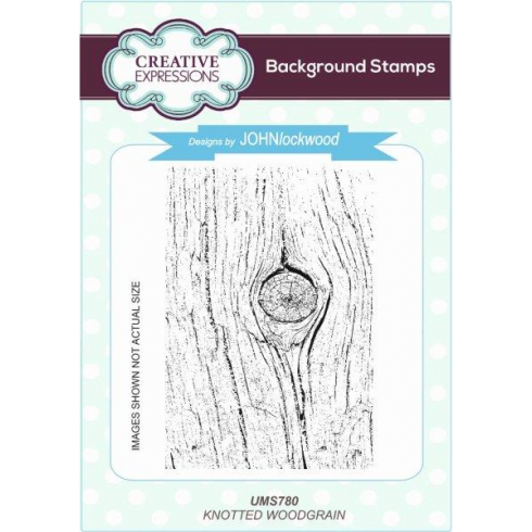 Creative Expressions Knotted Woodgrain A6 Background Stamp
