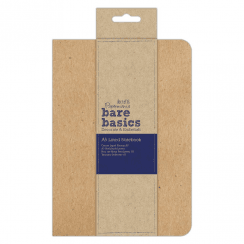 Papermania KRAFT COVER LINED NOTEBOOK (A5) - BARE BASICS