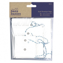 Papermania Kraft Envelope Bags (6pcs) - Bare Basics - Square White