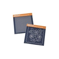 Lace Flowers & Netting Groovi Plate Set