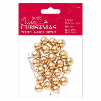 Papermania Large Decorative Berries (24pk) - Gold