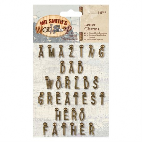 Papermania Letter Charms (34pcs) - Mr Smiths Workshop