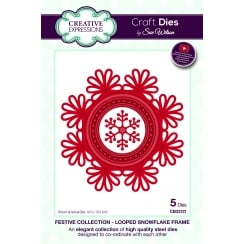 Sue Wilson Looped Snowflake Frame