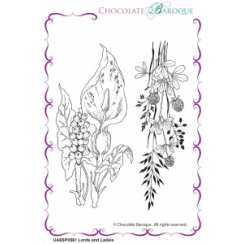 Chocolate Baroque Lords and Ladies unmounted rubber stamp set - A6