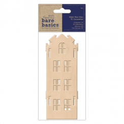 Papermania MAKE YOUR OWN 3D DECORATION - BARE BASICS - TALL WOODEN HOUSE