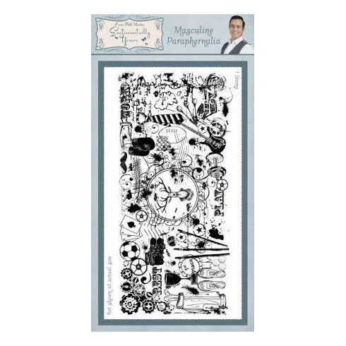 Phill Martin Masculine Paraphernalia Sentimentally Yours Rubber Stamp