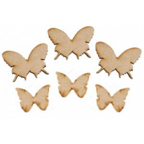 Creative Expressions Mdf Butterfly Splash Accessory Pack of 6