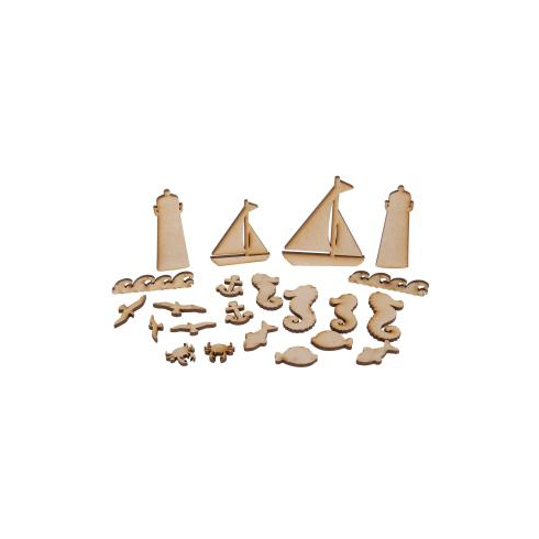 Creative Expressions Mdf By The Sea Accessory Pack