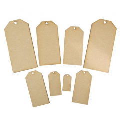 Creative Expressions Mdf Mixed Tags pack of 8