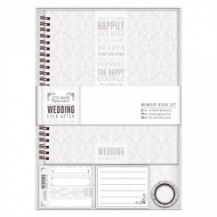 Papermania Memory Book - Wedding - Grey/W