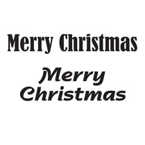 Woodware MERRY CHRISTMAS - JUST WORDS C