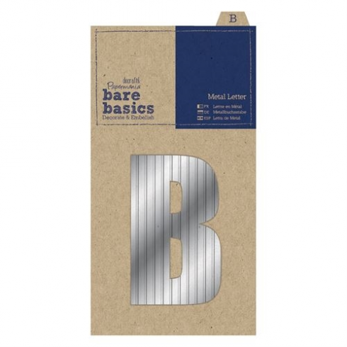 Papermania Metal Letters (1pc) - Bare Basics - B - Silver