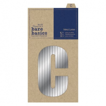 Papermania Metal Letters (1pc) - Bare Basics - C - Silver