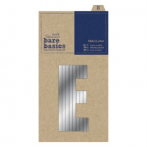 Papermania Metal Letters (1pc) - Bare Basics - E - Silver