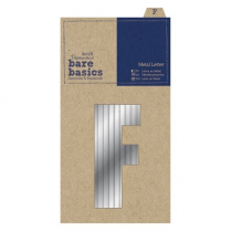 Papermania Metal Letters (1pc) - Bare Basics - F - Silver