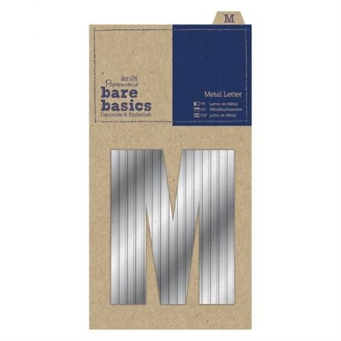 Papermania Metal Letters (1pc) - Bare Basics - M - Silver