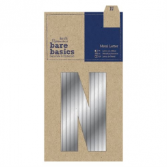 Papermania Metal Letters (1pc) - Bare Basics - N - Silver