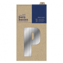 Papermania Metal Letters (1pc) - Bare Basics - P - Silver