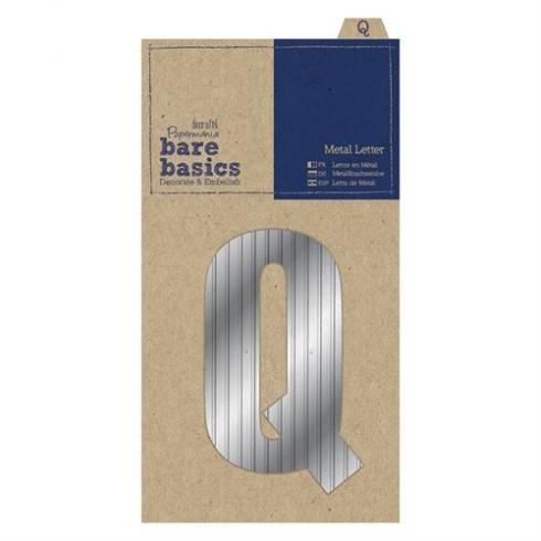 Papermania Metal Letters (1pc) - Bare Basics - Q - Silver