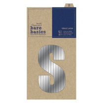 Papermania Metal Letters (1pc) - Bare Basics - S - Silver