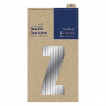 Papermania Metal Letters (1pc) - Bare Basics - Z - Silver