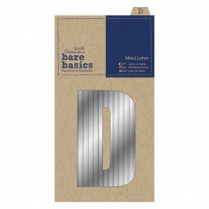 Papermania Metal Letters (1pc) - Bare Basicsa - D - Silver
