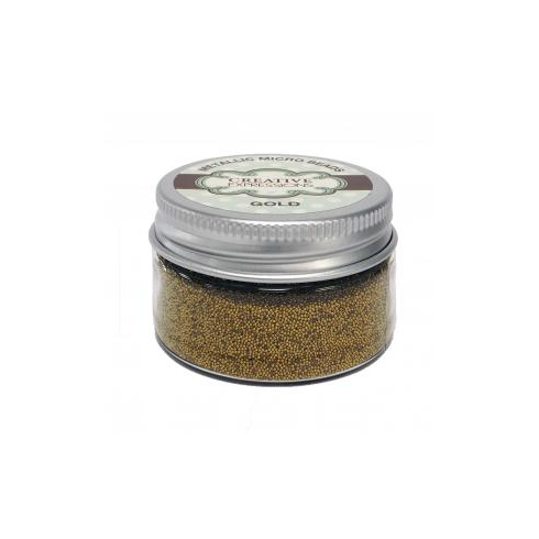 Creative Expressions Metallic Micro Beads Gold - 50g