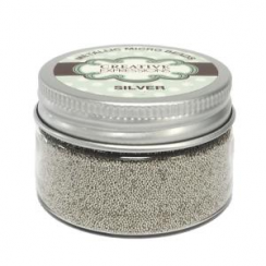 Creative Expressions Metallic Micro Beads Silver - 50g