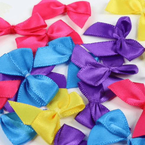 Simply Creative Mini Bows - Brights (20pcs)