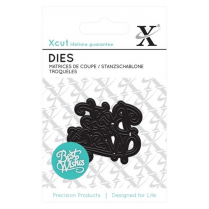 X-cut Mini Die (1pc) - Best Wishes
