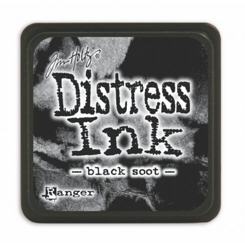 Ranger Mini Distress Ink Pad - Black Soot