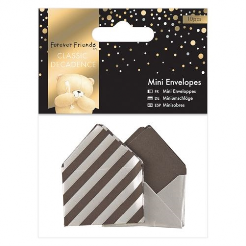 Forever Friends Mini Envelopes (10pcs) - Forever Friends - Classic Decadence Silver