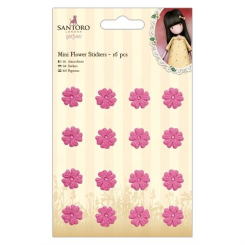 Docrafts Mini Flower Stickers (16pcs) - Santoro