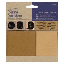 Papermania Mini Kraft Card Kit - Bare Basics