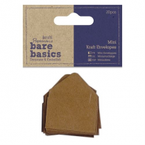 Papermania Mini Kraft Envelopes (20pcs) - Bare Basics - Brown