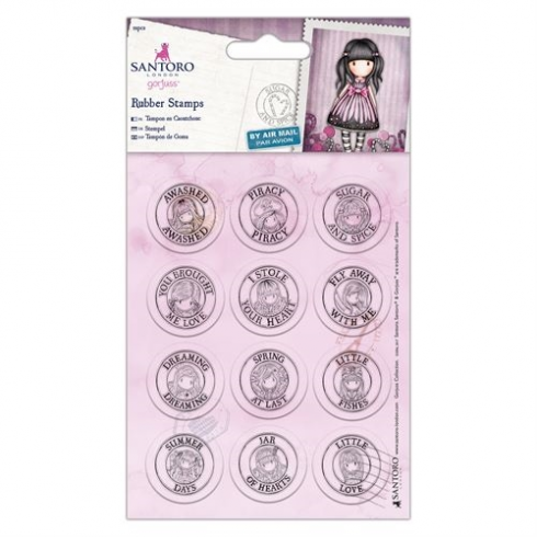 Docrafts Mini Rubber Stamps (12pcs) - Santoro