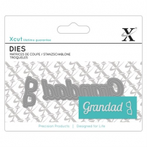 X-cut Mini Sentiment Die (2pcs) - Grandad