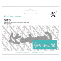 X-cut Mini Sentiment Die (2pcs) - Grandma