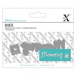 Mini Sentiment Die -  Sister for Cards or Crafts 2pcs Xcut Mini Dies
