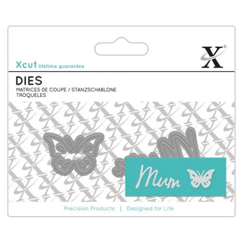 X-cut Mini Sentiment Die (2pcs) - Mum