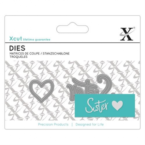 X-cut Mini Sentiment Die (2pcs) - Sister