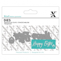 X-cut Mini Sentiment Die (3pcs) - Happy Easter