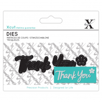 X-cut Mini Sentiment Die (3pcs) - Thank You
